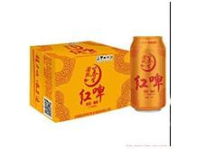 星浪养生红啤500ml罐装整箱