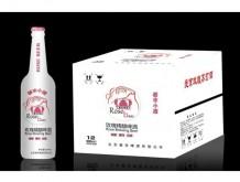 爱京玫瑰养生啤酒500mlX12瓶