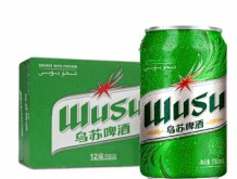 乌苏啤酒 WUSU 绿乌苏易拉罐330ml*12罐 整箱装