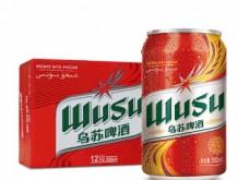 乌苏啤酒 WUSU 红乌苏易拉罐330mL*12罐 整箱装