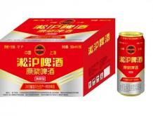 淞沪啤酒原浆啤酒清爽型500mlx12