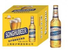 淞沪精酿原浆啤酒500mlx12(黄)